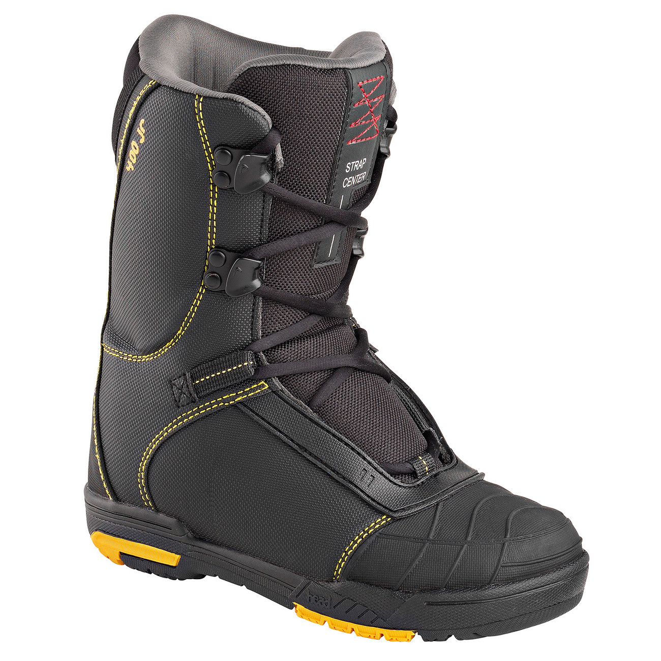 Head 400 4D BLACK KID'S Snowboard Boots-Μαύρο