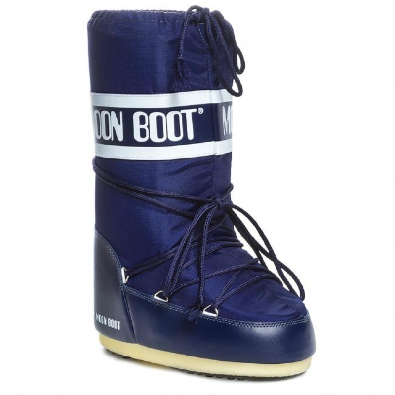 ΜOON BOOTS MOON BOOT Nylon Μπότα Χιονιού 14004400002-Blue