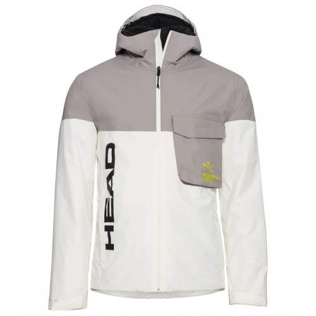 HEAD RACE NOVA WHAN SKI JACKET 821500(2021)-WHITE/GREY