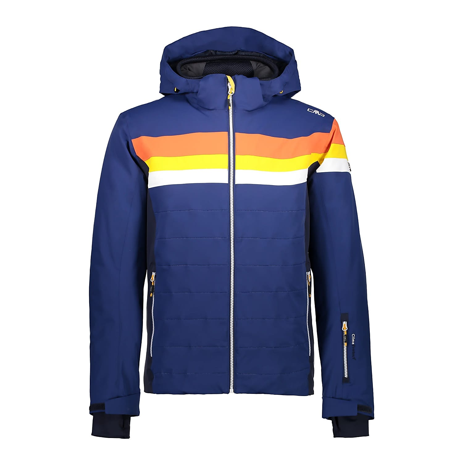 CMP ZIP HOOD MEN JACKET 38W0627-BLUE