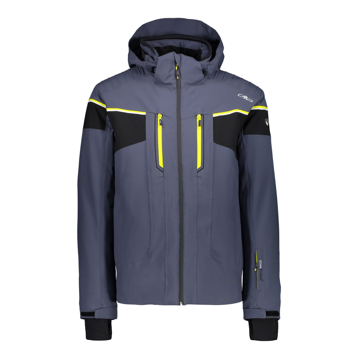 CMP ZIP HOOD MEN SKI JACKET 38W0507/U883-DARK GREY