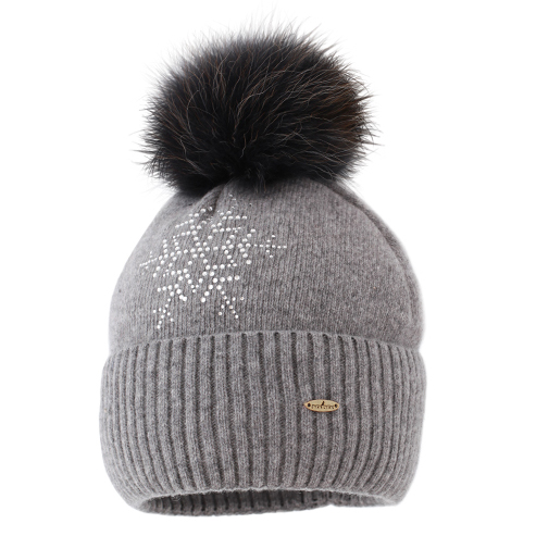 STARLING STAR BEANIE C037F-GREY