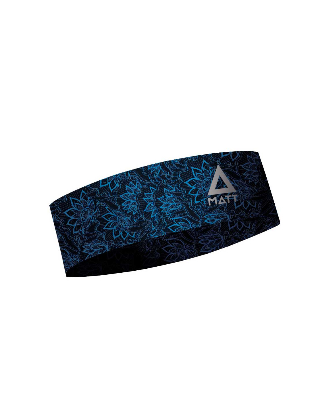 MATT NARROW HEADBAND FLORAL BLAU-BLUE