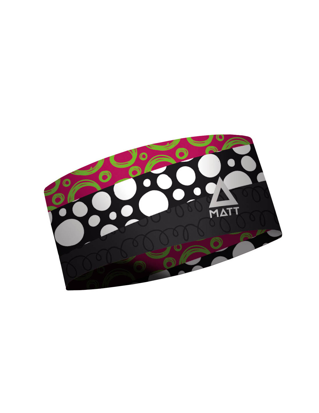 MATT THERMO HEADBAND ASYMETRIC-MULTICOLOR