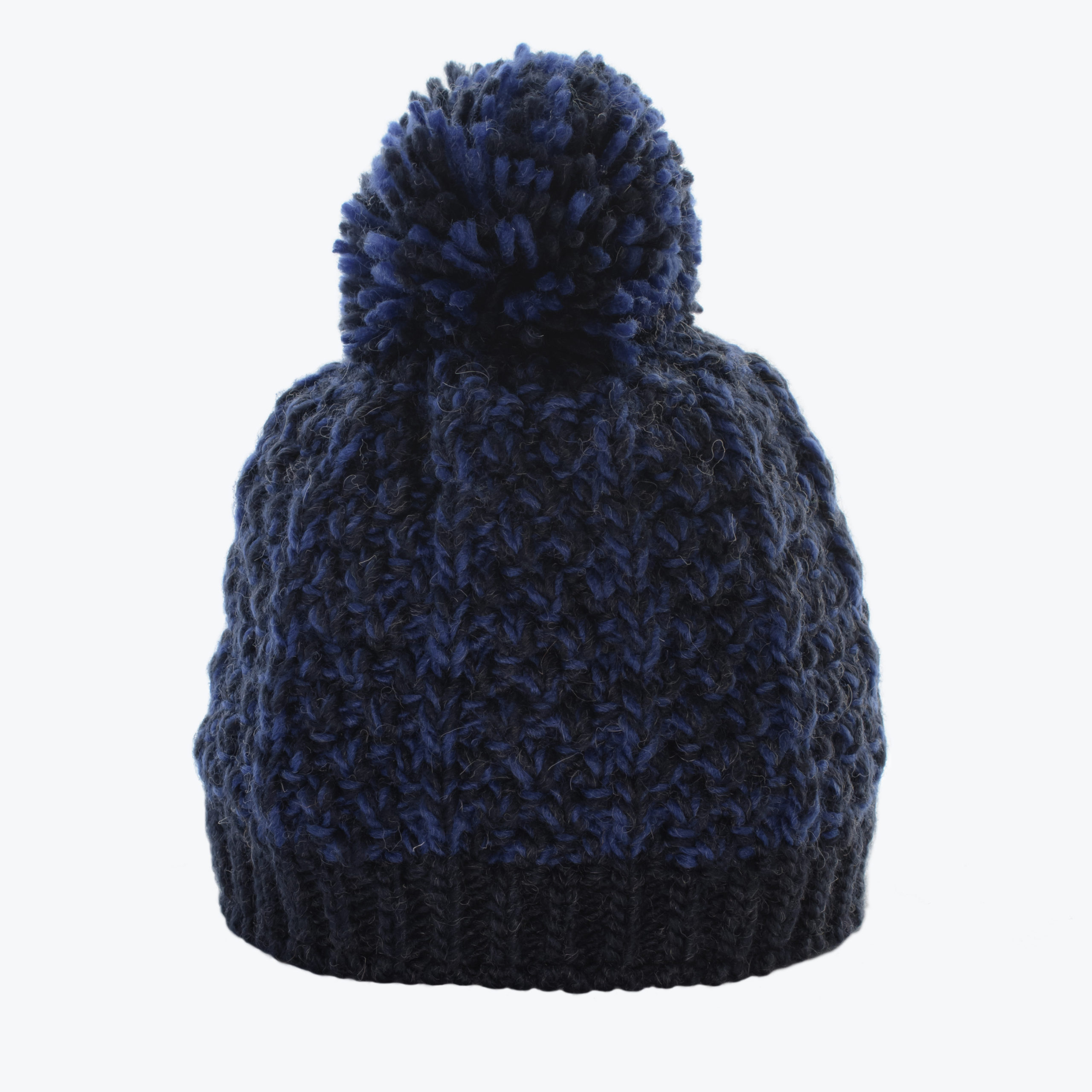 KID'S KNITTED BEANIE -BLUE