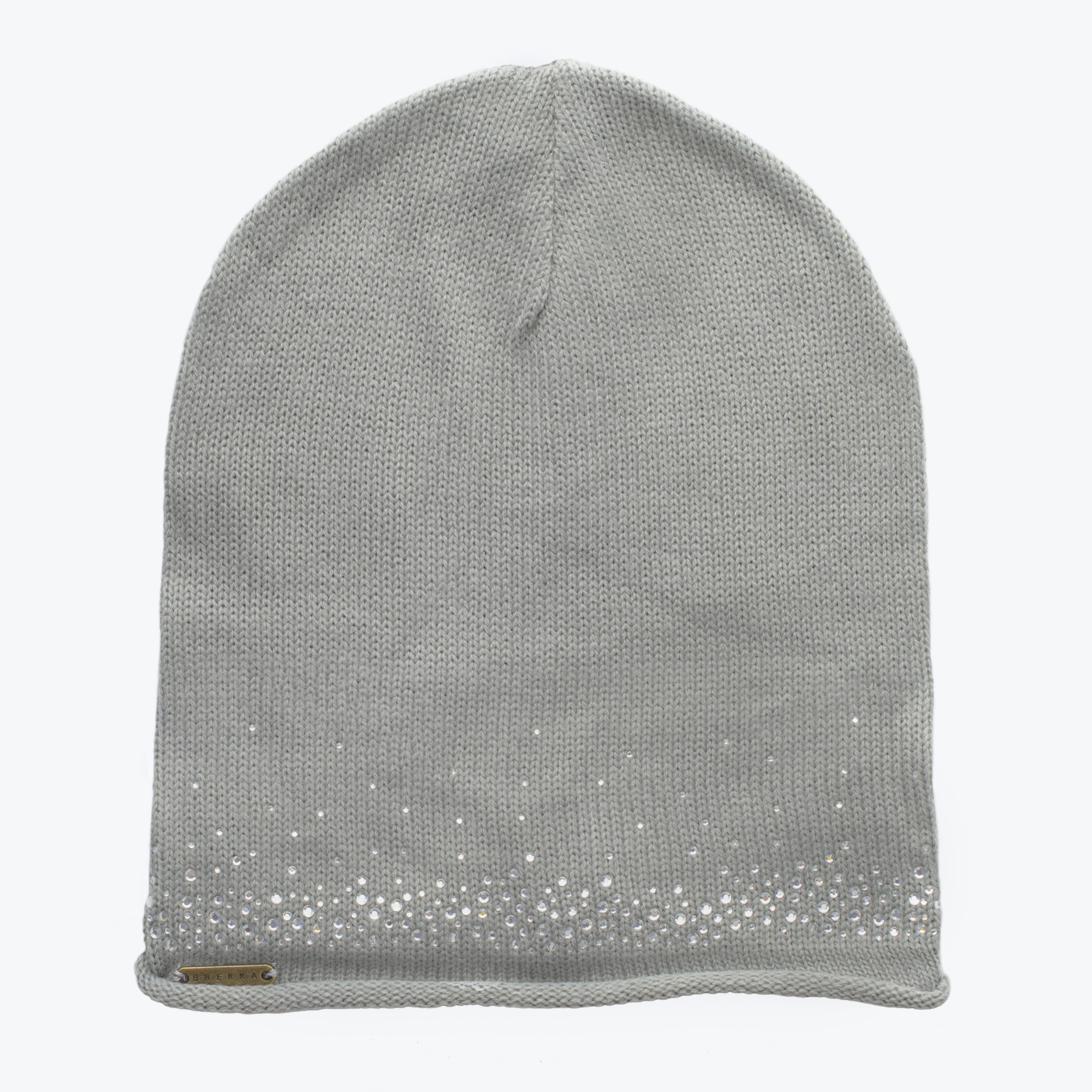 BREKKA WOMAN BEANIE WITH STRASS-GREY