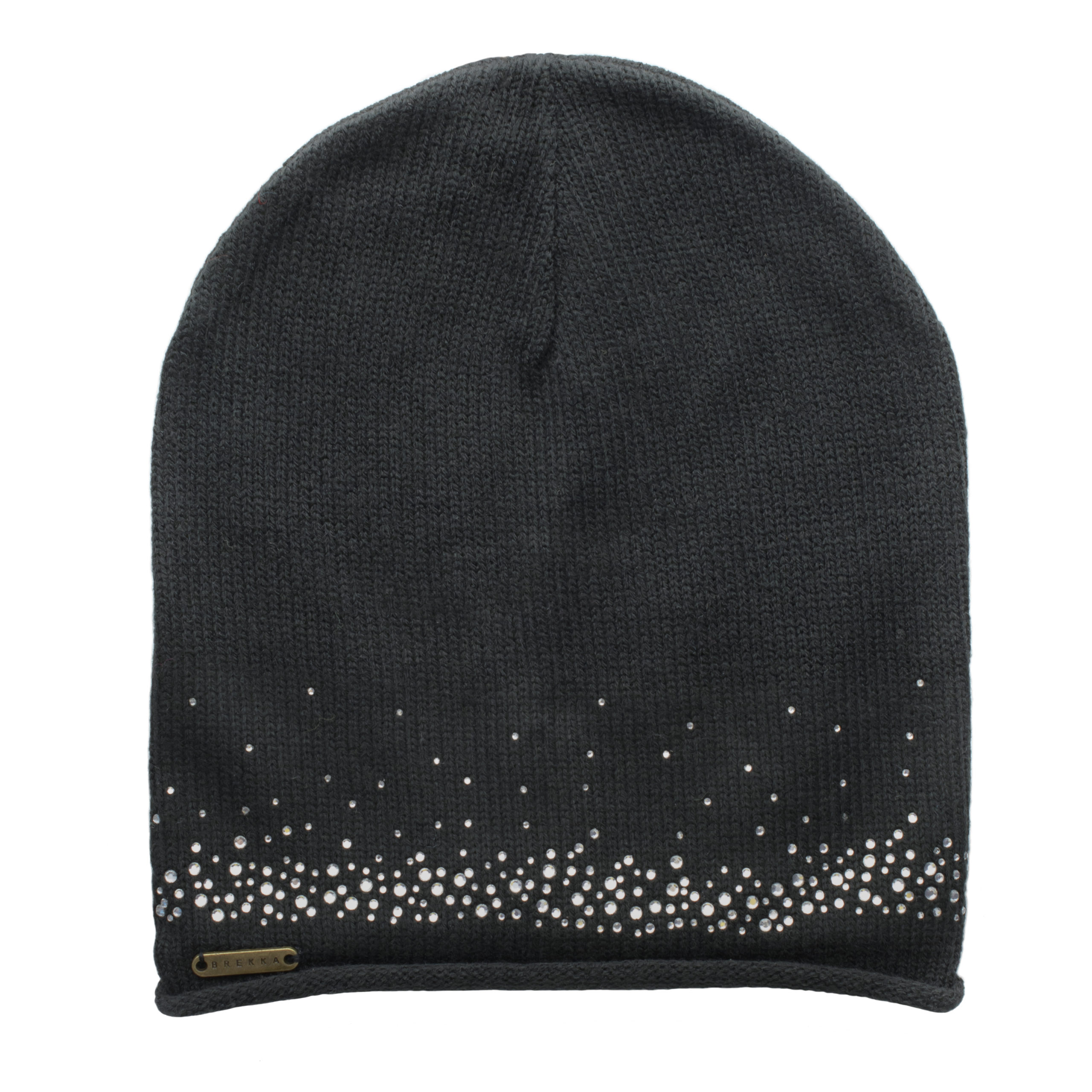 BREKKA WOMAN BEANIE WITH STRASS-BLACK