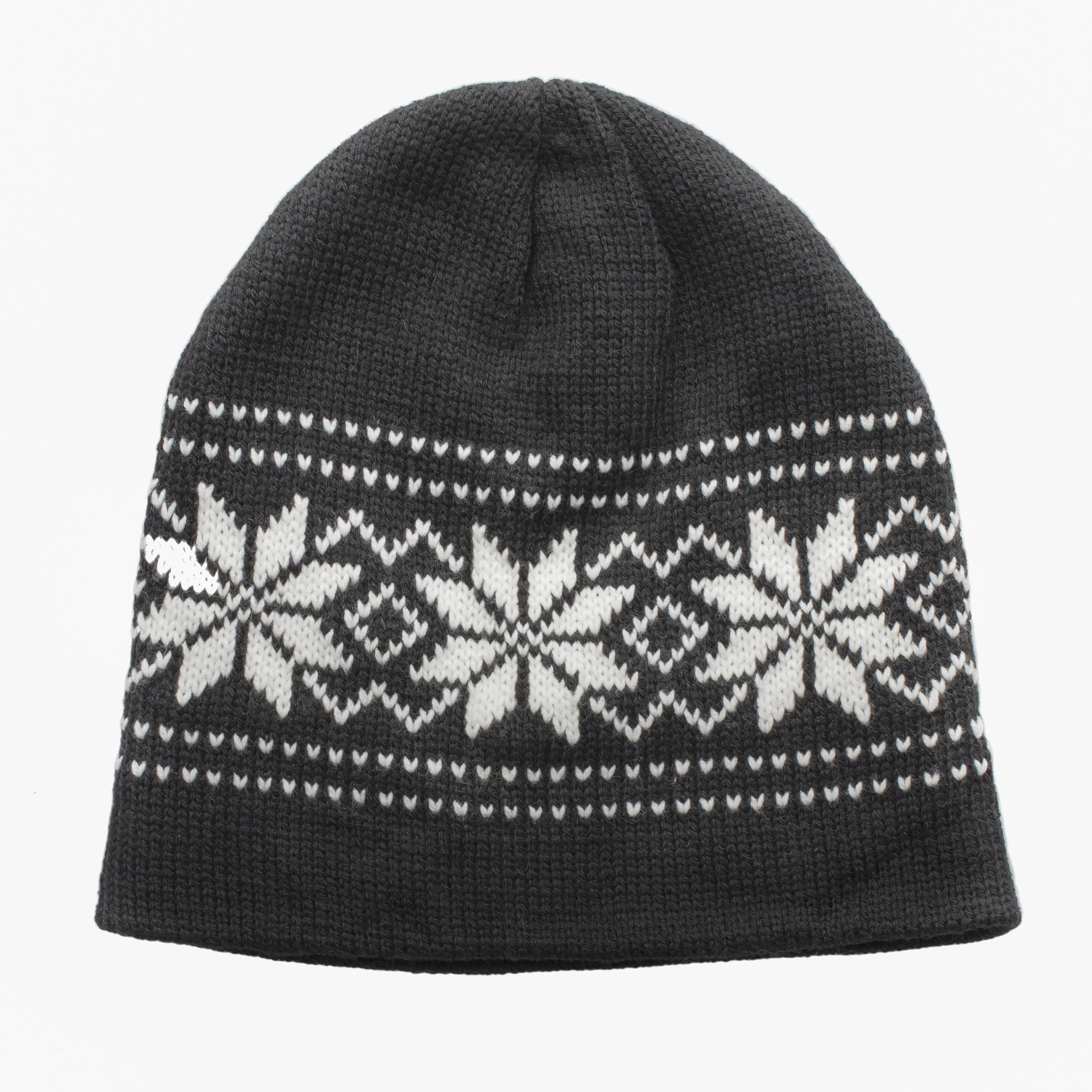 WOMAN KNITTED BEANIE-BLACK/WHITE