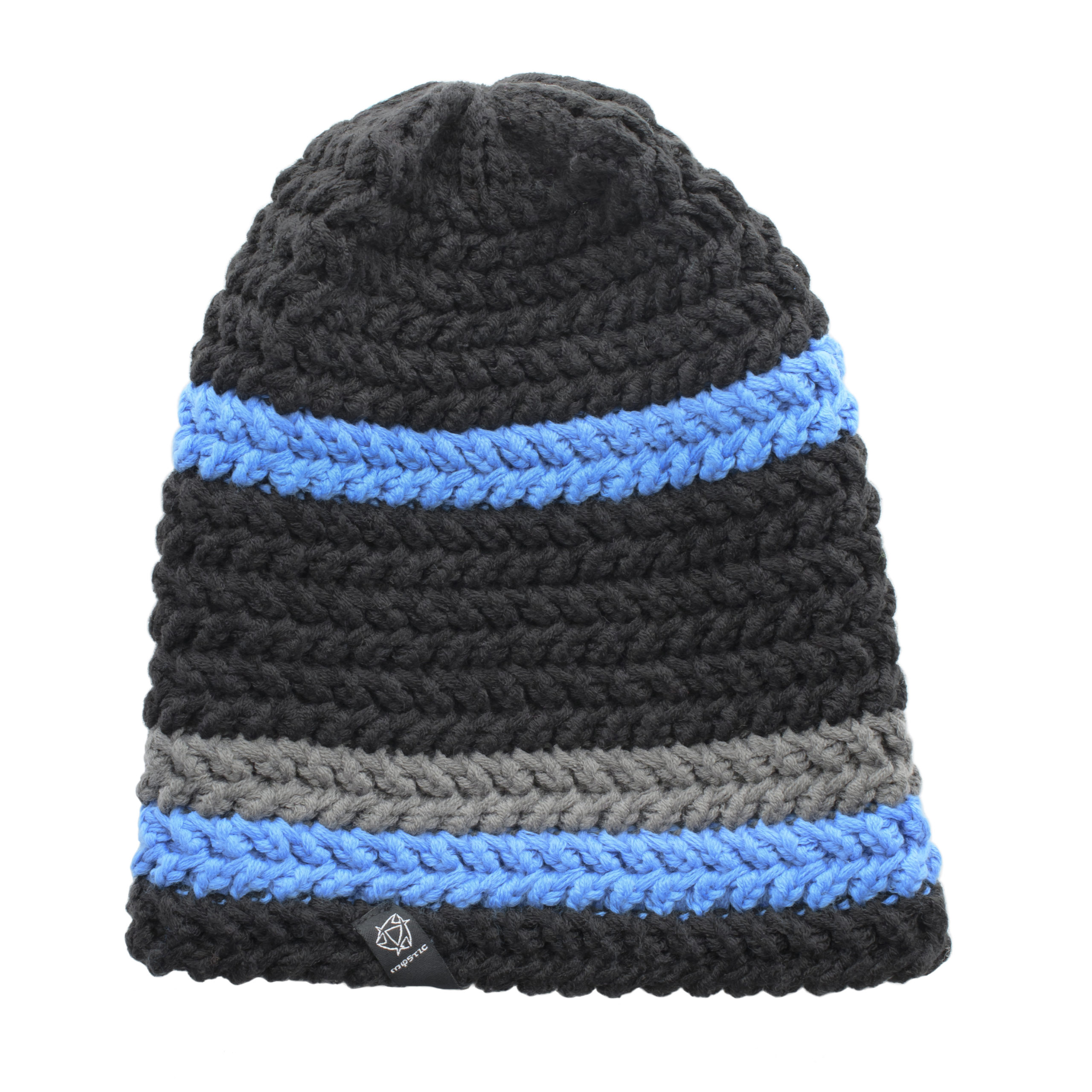 MYSTIC KNITTED BEANIE-BLACK