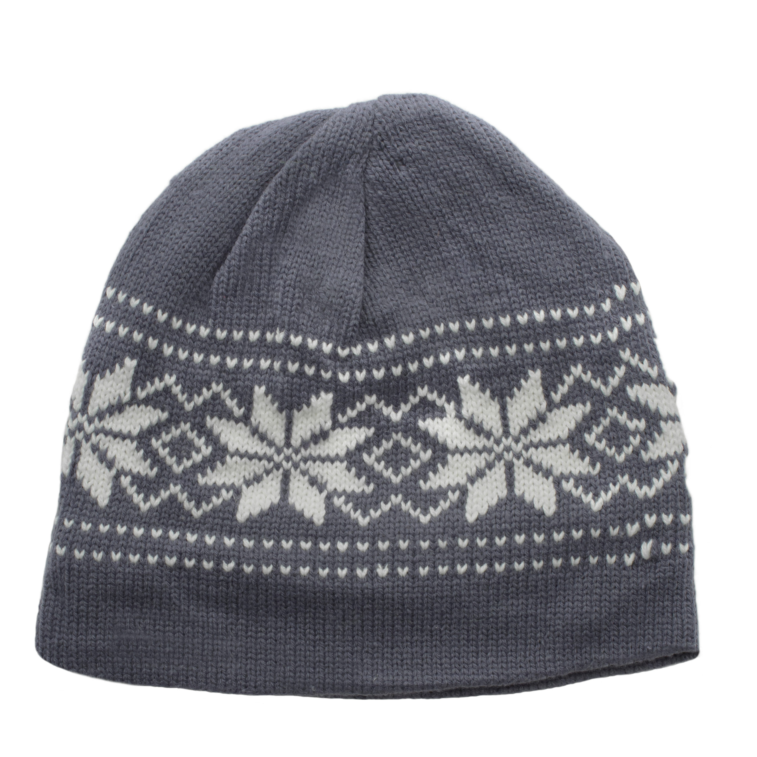 WOMAN KNITTED BEANIE-GREY