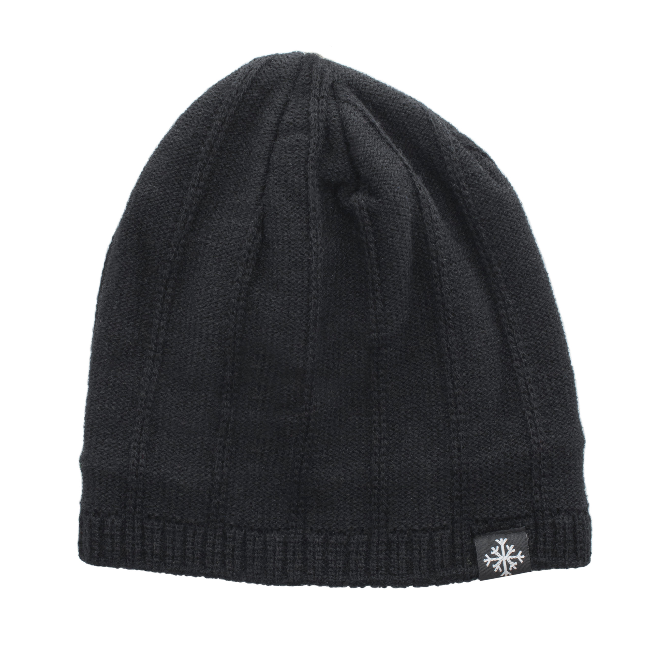 MEN'S LIGHT COTTON BEANIE-BLACK