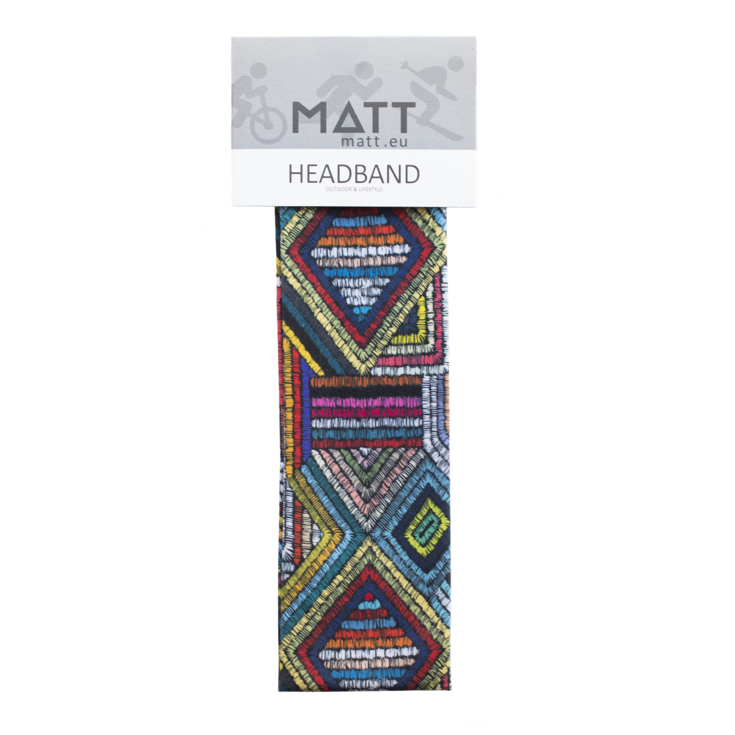 MATT NARROW HEADBAND-MULTICOLOR