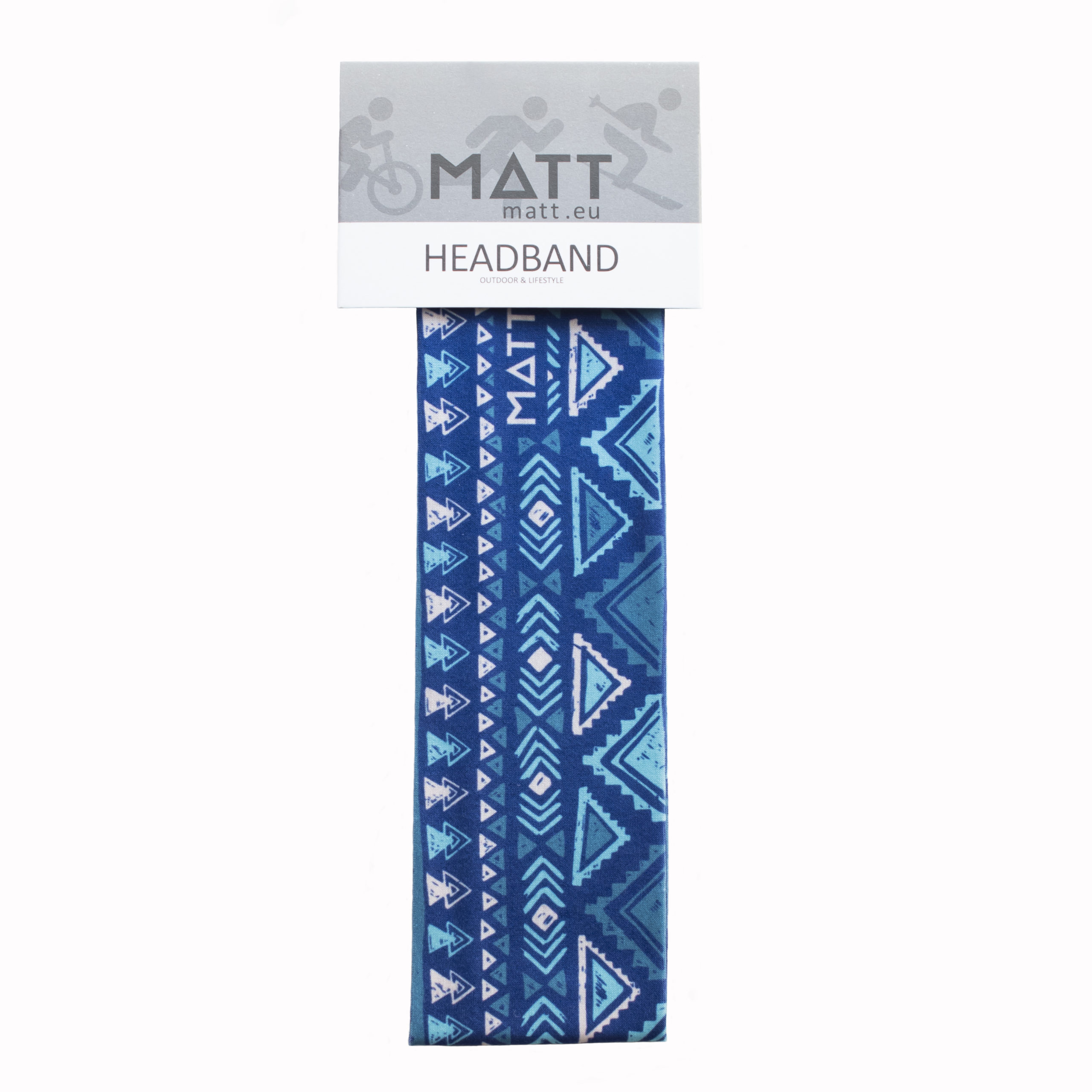 MATT NARROW HEADBAND-BLUE