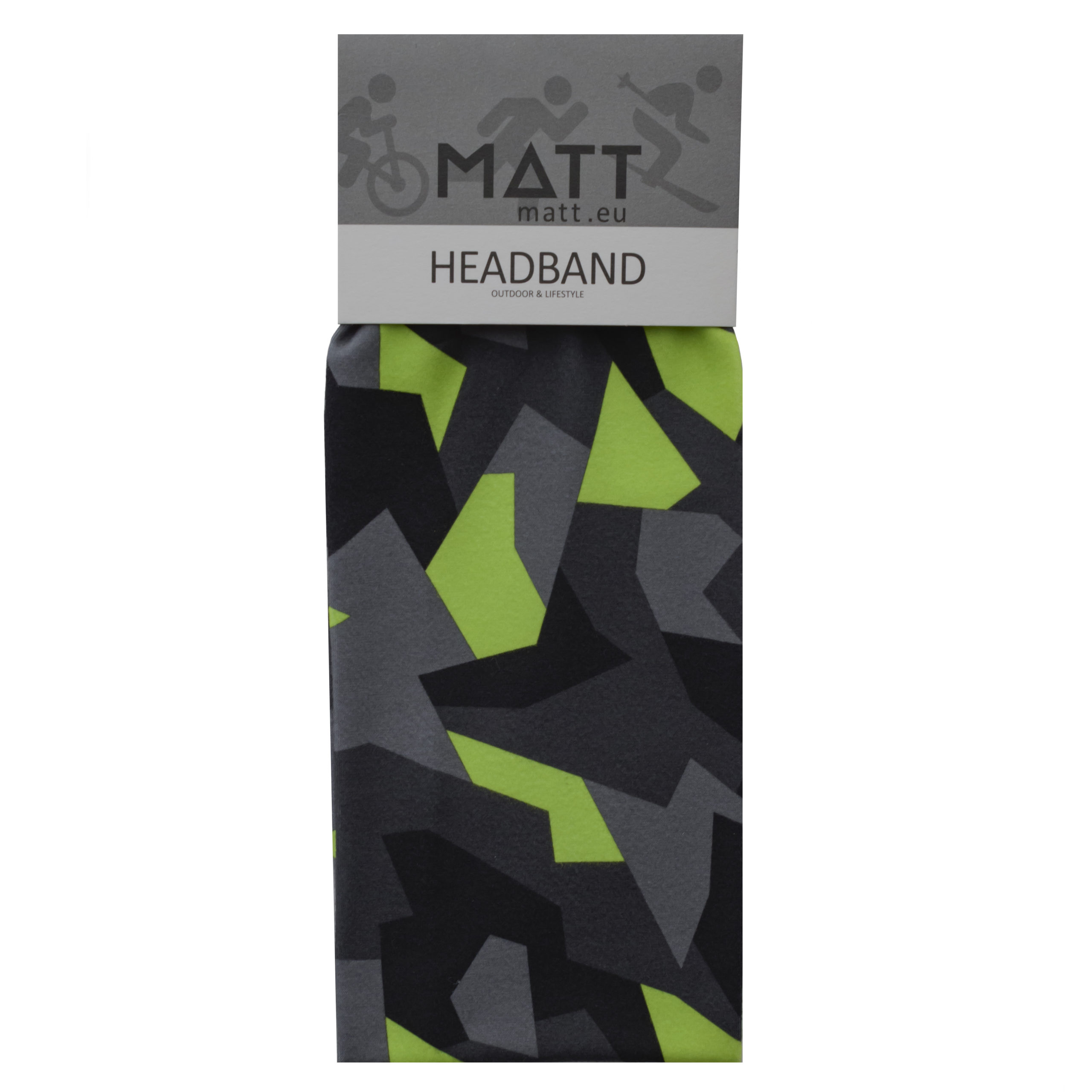MATT THERMO HEADBAND-BLACK/YELLOW